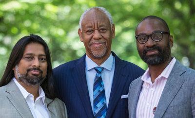 Dr. Toorjo Ghose, Calvin Bland, & Dean John L. Jackson, Jr.