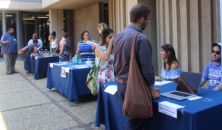 Student organizations fair during orientation