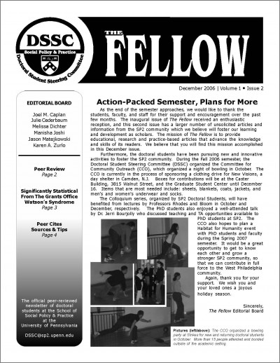 First page of The Fellow
