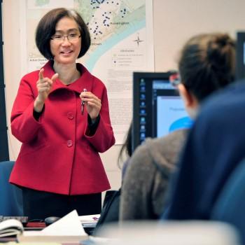 Dr. Irene Wong teaches a class