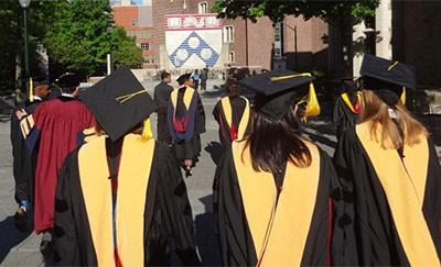 Graduates in Penn Commons