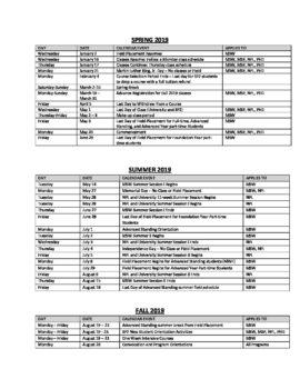 Academic Calendar Upenn.2019a 2020a Sp2 Academic Calendar School Of Social Policy Practice