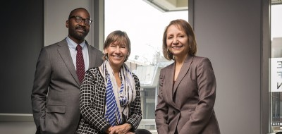 Penn Graduate School of Education Dean Pam Grossman, School of Nursing Dean Antonia Villarruel and School of Social Policy & Practice Dean John Jackson