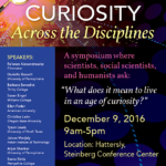 Flyer for Curiosity Across the Disciplines