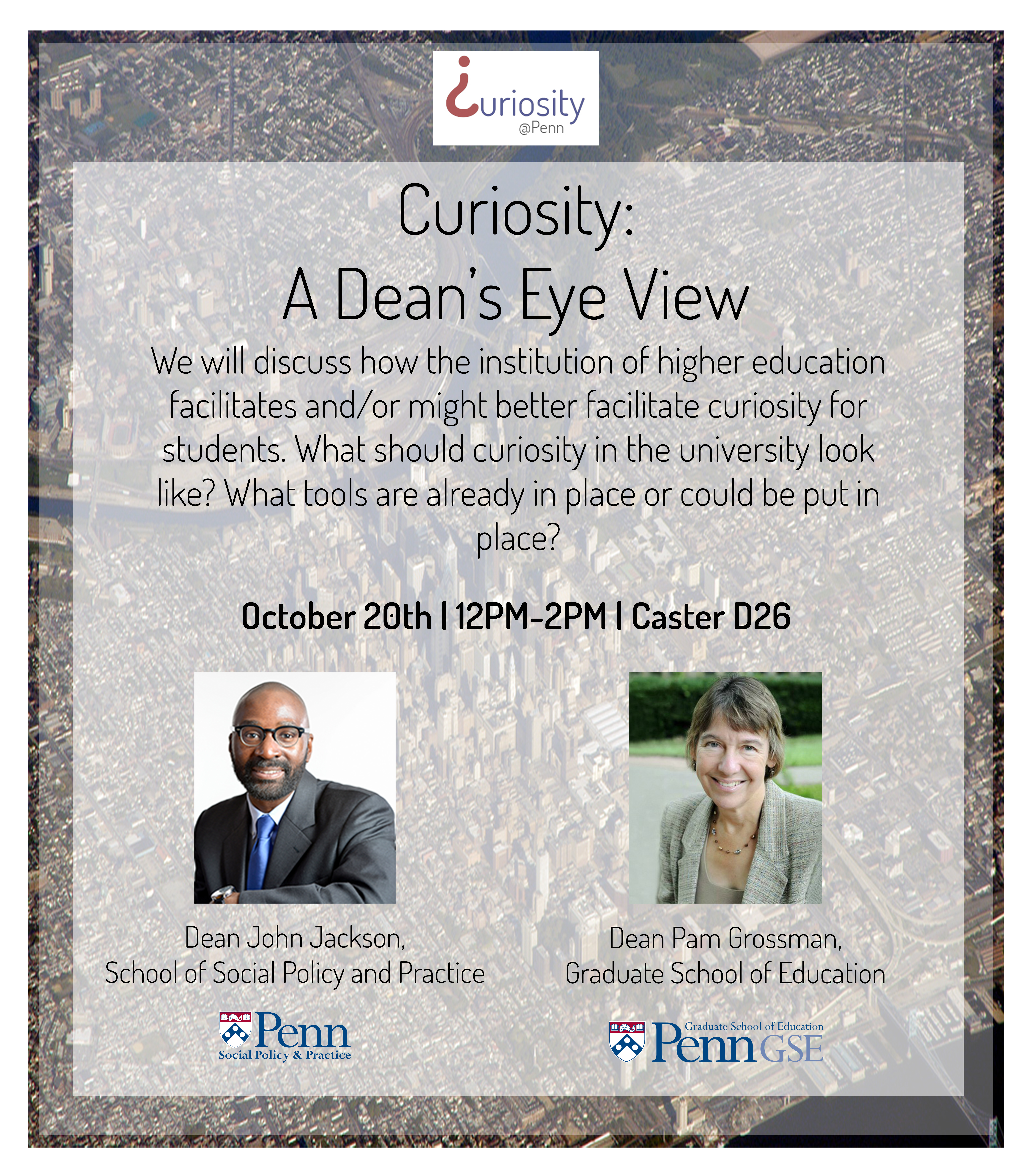 Flyer for Curiosity: A Dean's Eye View