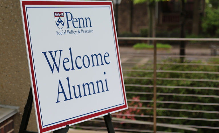 Alumni Weekend welcome sign