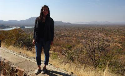 MSW student Rachel Zelouf in Botswana.