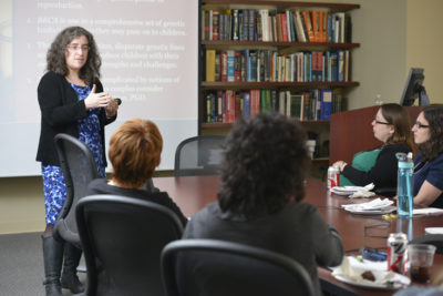 Dr. Allison Werner-Lin teaches a class