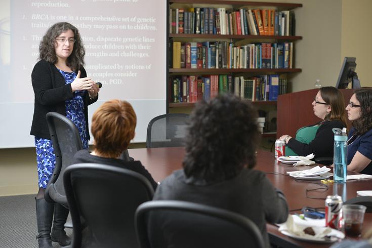 Dr. Allison Werner-Lin teaches a class