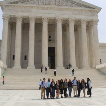 MSSP students in front of the Supreme Court