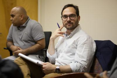 Dan Treglia and a colleague