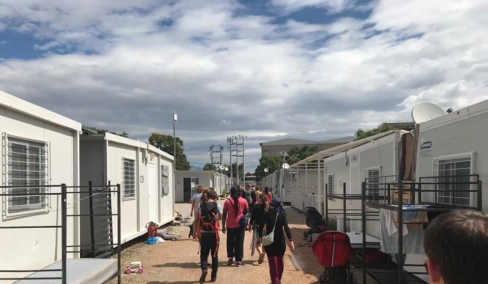 DSW cohort walking in Greece.