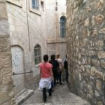 Students walking through Old City