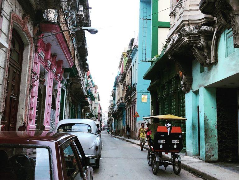 A busy street in Cuba