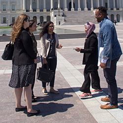 Students during annual MSSP trip to DC