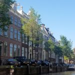 Row homes on a canal in The Netherlands