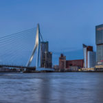 A shot of the city skyline in The Netherlands