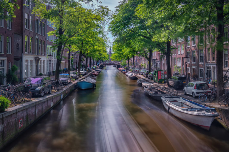 A canal in the Netherlands