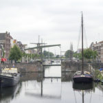 Boats on a canal in The Netherlands