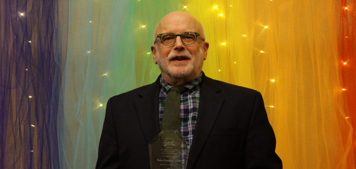 Bob Schoenberg receiving a Lifetime Achievement Award