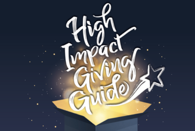 Cover image of 2019 High Impact Giving Guide