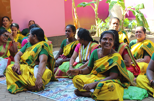 Group of women in India