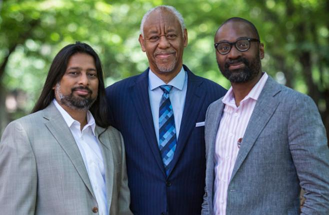 Dr. Toorjo Ghose, Calvin Bland, and Dean John L. Jackson, Jr.