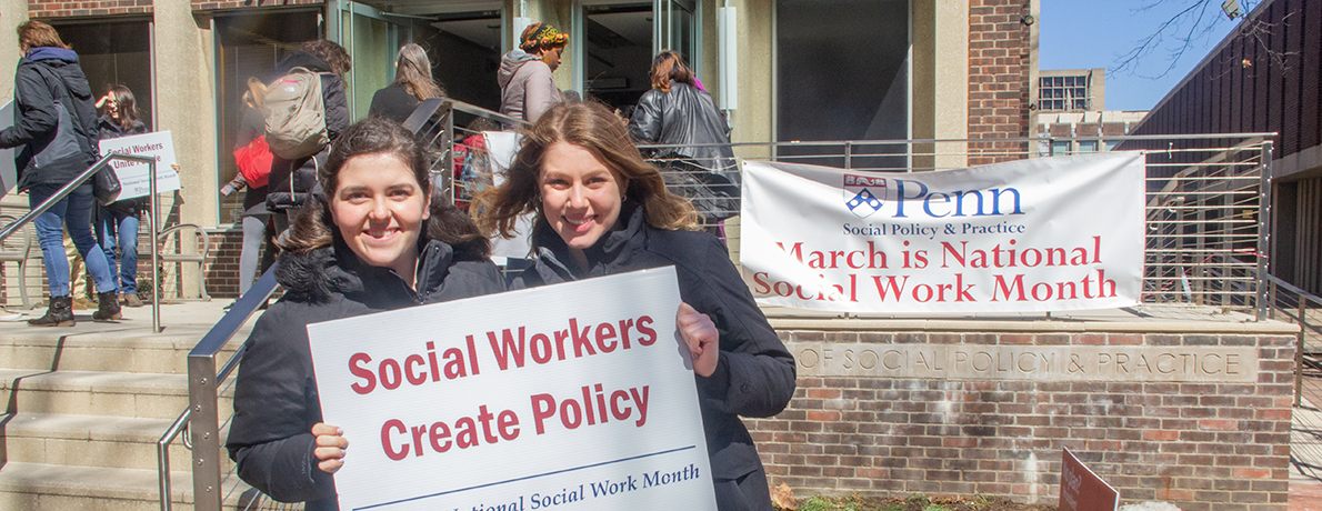 Students celebrate National Social Work Month