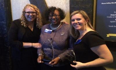 Katherine Streit, Karen M. Hudson, and Darcy Walker Krause at the Greater Philadelphia Social Innovations Awards