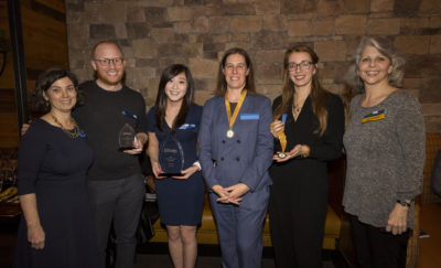 Tiffany Yau (third from left), 2019 winner of the Greater Philadelphia Social Innovation Award in the School Collaboration category