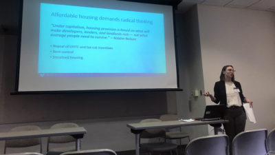 SP2 Student Emily Berkowitz presents at the APPAM Student Conference