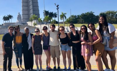 Students from the MSSP 797 course in Havana, with instructor Azahara Palomeque