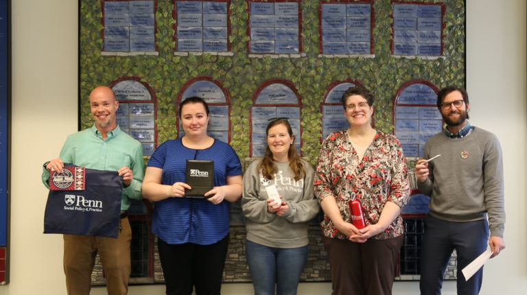 Staff and students hold class gift participation giveaways