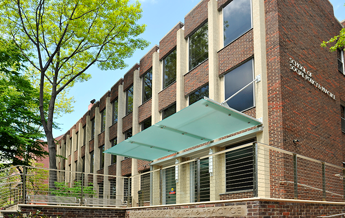 Front of Caster building