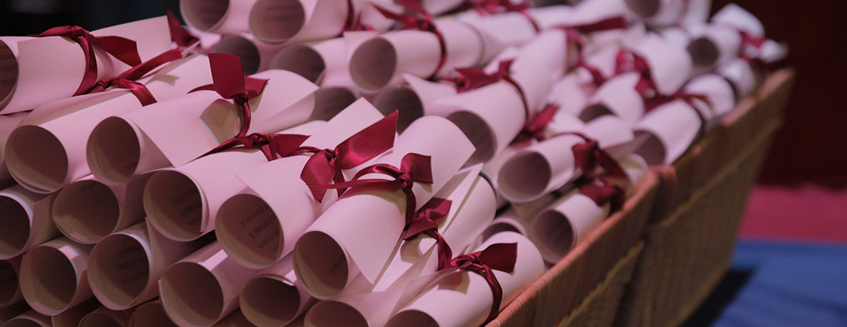 Paper scrolls in basket