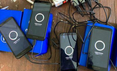 Smartphones charging