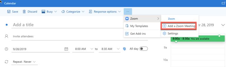 Zoom meeting screen
