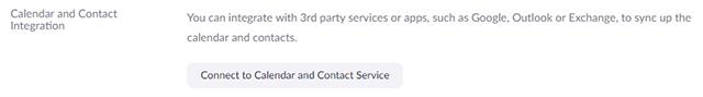 Calendar and contact integration