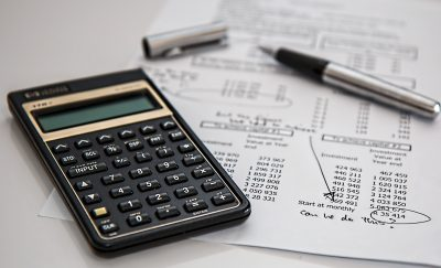 Image of calculator and notes